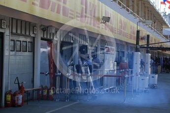 World © Octane Photographic Ltd. Formula 1 – Hungarian Post-Race Test - Day 1. Alfa Romeo Sauber F1 Team garage. Hungaroring, Budapest, Hungary. Tuesday 31st July 2018.