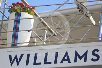 World © Octane Photographic Ltd. Formula 1 – Hungarian Post-Race Test - Day 2. Williams Martini Racing logo. Hungaroring, Budapest, Hungary. Wednesday 1st August 2018.