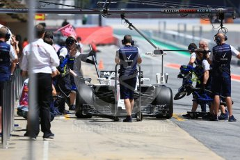 World © Octane Photographic Ltd. Formula 1 – In season test 1, day 1. Williams Martini Racing FW41 – Oliver Rowland. Circuit de Barcelona-Catalunya, Spain. Tuesday 15th May 2018.