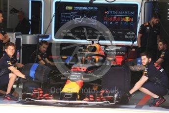 World © Octane Photographic Ltd. Formula 1 – In season test 1, day 1. Aston Martin Red Bull Racing TAG Heuer RB14 – Max Verstappen. Circuit de Barcelona-Catalunya, Spain. Tuesday 15th May 2018.