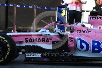 World © Octane Photographic Ltd. Formula 1 – In season test 1, day 2. Sahara Force India VJM11 - Nicholas Latifi. Circuit de Barcelona-Catalunya, Spain. Wednesday 16th May 2018.
