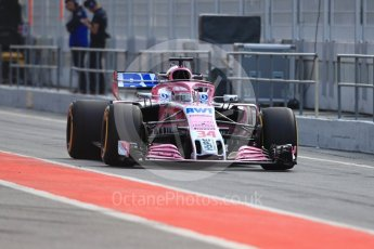 World © Octane Photographic Ltd. Formula 1 – In season test 1, day 2. Sahara Force India VJM11 – Nikita Mazipin. Circuit de Barcelona-Catalunya, Spain. Wednesday 16th May 2018.