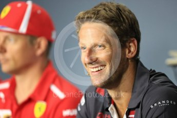 World © Octane Photographic Ltd. Formula 1 – Italian GP - FIA Drivers' Press Conference. Haas F1 Team - Romain Grosjean Autodromo Nazionale di Monza, Monza, Italy. Thursday 30th August 2018.