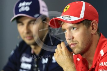 World © Octane Photographic Ltd. Formula 1 – Italian GP - FIA Drivers' Press Conference. Scuderia Ferrari - Sebastian Vettel. Autodromo Nazionale di Monza, Monza, Italy. Thursday 30th August 2018.