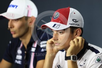 World © Octane Photographic Ltd. Formula 1 – Italian GP - FIA Drivers' Press Conference. Alfa Romeo Sauber F1 Team- Charles Leclerc. Autodromo Nazionale di Monza, Monza, Italy. Thursday 30th August 2018.