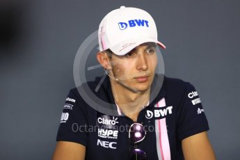 World © Octane Photographic Ltd. Formula 1 – Italian GP - FIA Drivers' Press Conference. Racing Point Force India -  Esteban Ocon. Autodromo Nazionale di Monza, Monza, Italy. Thursday 30th August 2018.