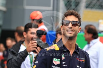 World © Octane Photographic Ltd. Formula 1 – Italian GP - Drivers Parade. Aston Martin Red Bull Racing TAG Heuer RB14 – Daniel Ricciardo. Autodromo Nazionale di Monza, Monza, Italy. Sunday 2nd September 2018.