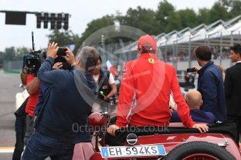 World © Octane Photographic Ltd. Formula 1 – Italian GP - Drivers Parade. Scuderia Ferrari SF71-H – Kimi Raikkonen. Autodromo Nazionale di Monza, Monza, Italy. Sunday 2nd September 2018.