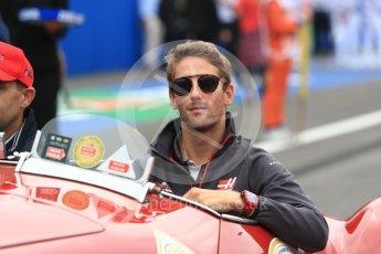 World © Octane Photographic Ltd. Formula 1 – Italian GP - Drivers Parade. Haas F1 Team VF-18 – Romain Grosjean. Autodromo Nazionale di Monza, Monza, Italy. Sunday 2nd September 2018.