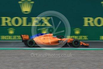 World © Octane Photographic Ltd. Formula 1 – Italian GP - Practice 1. McLaren MCL33 – Fernando Alonso. Autodromo Nazionale di Monza, Monza, Italy. Friday 31st August 2018.