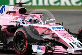 World © Octane Photographic Ltd. Formula 1 – Italian GP - Qualifying. Racing Point Force India VJM11 - Sergio Perez. Autodromo Nazionale di Monza, Monza, Italy. Saturday 1st September 2018.