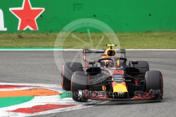 World © Octane Photographic Ltd. Formula 1 – Italian GP - Qualifying. Aston Martin Red Bull Racing TAG Heuer RB14 – Max Verstappen. Autodromo Nazionale di Monza, Monza, Italy. Saturday 1st September 2018.