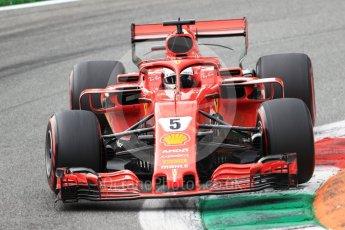 World © Octane Photographic Ltd. Formula 1 – Italian GP - Qualifying. Scuderia Ferrari SF71-H – Sebastian Vettel. Autodromo Nazionale di Monza, Monza, Italy. Saturday 1st September 2018.