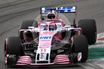 World © Octane Photographic Ltd. Formula 1 – Italian GP - Qualifying. Racing Point Force India VJM11 - Sergio Perez. Autodromo Nazionale di Monza, Monza, Italy. Saturday 1st September 2018.