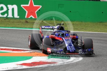 World © Octane Photographic Ltd. Formula 1 – Italian GP - Qualifying. Scuderia Toro Rosso STR13 – Brendon Hartley. Autodromo Nazionale di Monza, Monza, Italy. Saturday 1st September 2018.