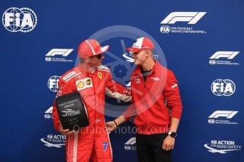 World © Octane Photographic Ltd. Formula 1 – Italian GP - Qualifying. Scuderia Ferrari SF71-H – Kimi Raikkonen and Mick Schumacher. Autodromo Nazionale di Monza, Monza, Italy. Saturday 1st September 2018.
