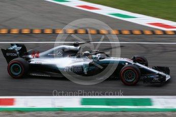 World © Octane Photographic Ltd. Formula 1 – Italian GP - Qualifying. Mercedes AMG Petronas Motorsport AMG F1 W09 EQ Power+ - Lewis Hamilton. Autodromo Nazionale di Monza, Monza, Italy. Saturday 1st September 2018.