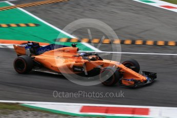 World © Octane Photographic Ltd. Formula 1 – Italian GP - Qualifying. McLaren MCL33 – Fernando Alonso. Autodromo Nazionale di Monza, Monza, Italy. Saturday 1st September 2018.