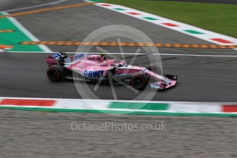World © Octane Photographic Ltd. Formula 1 – Italian GP - Qualifying. Racing Point Force India VJM11 - Esteban Ocon. Autodromo Nazionale di Monza, Monza, Italy. Saturday 1st September 2018.