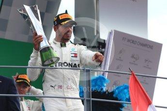 World © Octane Photographic Ltd. Formula 1 – Italian GP - Race - Podium. Mercedes AMG Petronas Motorsport AMG F1 W09 EQ Power+ - Lewis Hamilton. Autodromo Nazionale di Monza, Monza, Italy. Sunday 2nd September 2018.