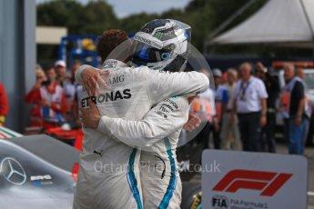 World © Octane Photographic Ltd. Formula 1 – Italian GP - Race - Podium. Mercedes AMG Petronas Motorsport AMG F1 W09 EQ Power+ - Lewis Hamilton and Valtteri Bottas. Autodromo Nazionale di Monza, Monza, Italy. Sunday 2nd September 2018.