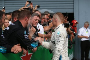 World © Octane Photographic Ltd. Formula 1 – Italian GP - Race - Podium. Mercedes AMG Petronas Motorsport AMG F1 W09 EQ Power+ - Valtteri Bottas. Autodromo Nazionale di Monza, Monza, Italy. Sunday 2nd September 2018.