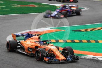 World © Octane Photographic Ltd. Formula 1 – Italian GP - Race. McLaren MCL33 – Fernando Alonso. Autodromo Nazionale di Monza, Monza, Italy. Sunday 2nd September 2018.