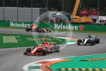 World © Octane Photographic Ltd. Formula 1 – Italian GP - Race. Scuderia Ferrari SF71-H – Kimi Raikkonen. Autodromo Nazionale di Monza, Monza, Italy. Sunday 2nd September 2018.