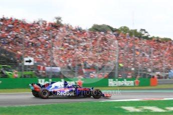 World © Octane Photographic Ltd. Formula 1 – Italian GP - Race. Scuderia Toro Rosso STR13 – Pierre Gasly. Autodromo Nazionale di Monza, Monza, Italy. Sunday 2nd September 2018.