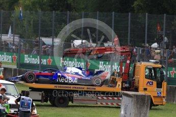 World © Octane Photographic Ltd. Formula 1 – Italian GP - Race. Scuderia Toro Rosso STR13 – Brendon Hartley. Autodromo Nazionale di Monza, Monza, Italy. Sunday 2nd September 2018.