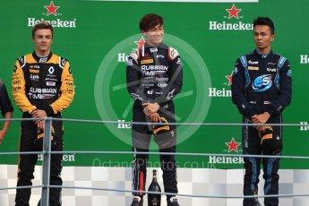World © Octane Photographic Ltd. FIA Formula 2 (F2)  – Italian GP - Race 1. Russian Time - Tadasuke Makin, Artem Markelov and DAMS - Alexander Albon. Autodromo Nazionale di Monza, Monza, Italy. Saturday 1st September 2018