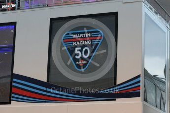 World © Octane Photographic Ltd. Formula 1 – Italian GP - Paddock. Williams Martini Racing 50 years of racing. Autodromo Nazionale di Monza, Monza, Italy. Friday 31st August 2018.