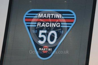 World © Octane Photographic Ltd. Formula 1 – Italian GP - Paddock. Williams Martini Racing 50 years of racing. Autodromo Nazionale di Monza, Monza, Italy. Friday 31st August 2018.