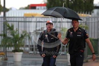 World © Octane Photographic Ltd. Formula 1 – Italian GP - Paddock. Aston Martin Red Bull Racing TAG Heuer RB14 – Max Verstappen. Autodromo Nazionale di Monza, Monza, Italy. Friday 31st August 2018.