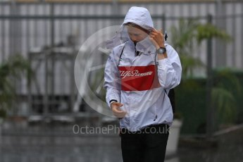 World © Octane Photographic Ltd. Formula 1 – Italian GP - Paddock. Alfa Romeo Sauber F1 Team C37 – Marcus Ericsson. Autodromo Nazionale di Monza, Monza, Italy. Friday 31st August 2018.