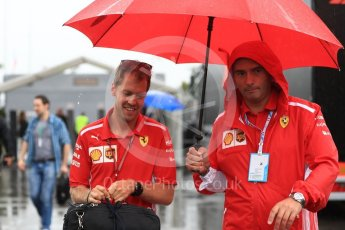 World © Octane Photographic Ltd. Formula 1 – Italian GP - Paddock. Scuderia Ferrari SF71-H – Sebastian Vettel. Autodromo Nazionale di Monza, Monza, Italy. Friday 31st August 2018.