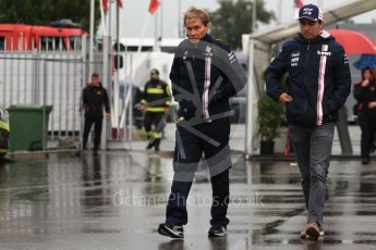 World © Octane Photographic Ltd. Formula 1 – Italian GP - Paddock. Racing Point Force India VJM11 - Sergio Perez. Autodromo Nazionale di Monza, Monza, Italy. Friday 31st August 2018.