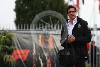 World © Octane Photographic Ltd. Formula 1 - Italian GP - Paddock. Toto Wolff - Executive Director & Head of Mercedes - Benz Motorsport. Autodromo Nazionale di Monza, Monza, Italy. Saturday 1st September 2018.