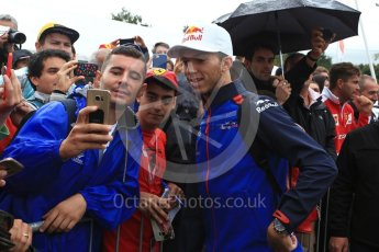 World © Octane Photographic Ltd. Formula 1 – Italian GP - Paddock. Scuderia Toro Rosso STR13 – Pierre Gasly. Autodromo Nazionale di Monza, Monza, Italy. Saturday 1st September 2018.