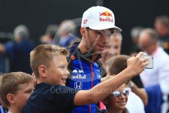 World © Octane Photographic Ltd. Formula 1 – Italian GP - Paddock. Scuderia Toro Rosso STR13 – Pierre Gasly. Autodromo Nazionale di Monza, Monza, Italy. Sunday 2nd September 2018.
