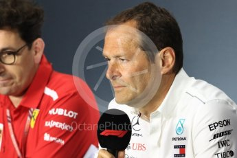 World © Octane Photographic Ltd. Formula 1 - Italian GP – Friday FIA Team Press Conference. Aldo Costa - Engineering Director of Mercedes - AMG Petronas Motorsport. Autodromo Nazionale di Monza, Monza, Italy. Friday 31st August 2018.