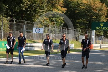 World © Octane Photographic Ltd. Formula 1 – Italian GP - Track Walk. Racing Point Force India VJM11 - Esteban Ocon. Autodromo Nazionale di Monza, Monza, Italy. Thursday 30th August 2018.