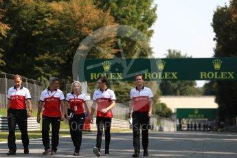 World © Octane Photographic Ltd. Formula 1 – Italian GP - Track Walk. Alfa Romeo Sauber F1 Team C37 – Charles Leclerc. Autodromo Nazionale di Monza, Monza, Italy. Thursday 30th August 2018.