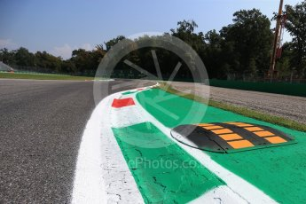 World © Octane Photographic Ltd. Formula 1 – Italian GP - Track Walk. Turn 10 with new double kerb. Autodromo Nazionale di Monza, Monza, Italy. Thursday 30th August 2018.