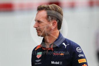 World © Octane Photographic Ltd. Formula 1 - Japanese GP - Paddock. Christian Horner - Team Principal of Red Bull Racing. Suzuka Circuit, Japan. Friday 5th October 2018.