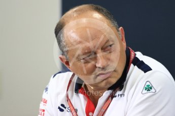 World © Octane Photographic Ltd. Formula 1 - Japanese GP - Friday FIA Team Press Conference. Frederic Vasseur – Team Principal and CEO of Sauber Motorsport AG. Suzuka Circuit, Japan. Friday 5th October 2018.