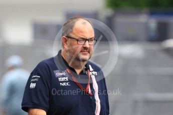 World © Octane Photographic Ltd. Formula 1 - Japanese GP - Paddock. Tom McCullough – Chief Race Engineer at Racing Point Force India. Suzuka Circuit, Japan. Saturday 6th October 2018.
