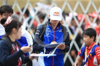 World © Octane Photographic Ltd. Formula 1 – Japanese GP - Paddock. Scuderia Toro Rosso STR13 – Pierre Gasly. Suzuka Circuit, Japan. Saturday 6th October 2018.