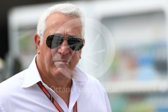 World © Octane Photographic Ltd. Formula 1 - Japanese GP - Paddock. Lance Stroll's father Lawrence Stroll - investor, part-owner of Racing Point Force India Formula 1 team. Suzuka Circuit, Japan. Saturday 6th October 2018.