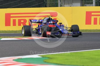 World © Octane Photographic Ltd. Formula 1 – Japanese GP - Practice 1. Scuderia Toro Rosso STR13 – Pierre Gasly. Suzuka Circuit, Japan. Friday 5th October 2018.
